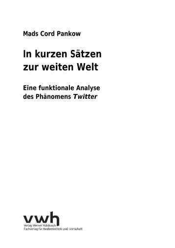 In kurzen Sätzen zur weiten Welt - vwh Verlag Werner Hülsbusch