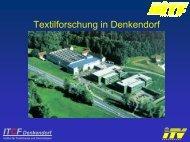 Textilforschung Denkendorf - Hofer Vliesstofftage in Hof