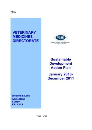 Sustainable Development Action Plan - Veterinary Medicines ...