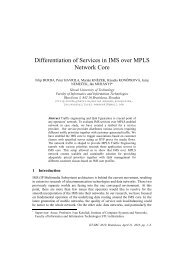 Differentiation of Services in IMS over MPLS Network Core