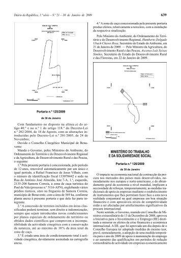 PORTARIA n.º 126/2009.de 30 de Janeiro - Diário da República ...