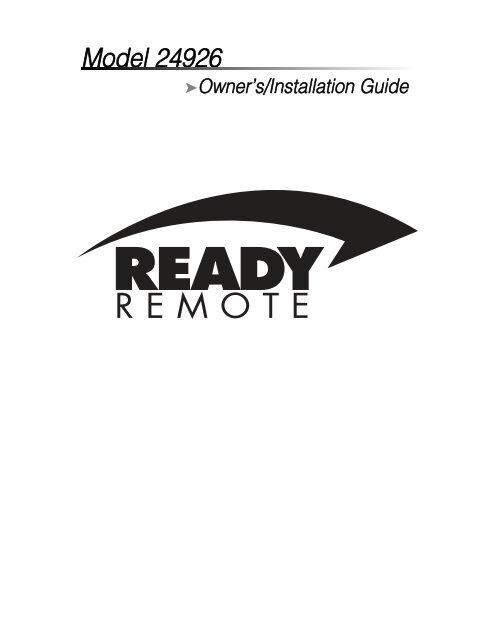 Model 24926 - Ready Remote