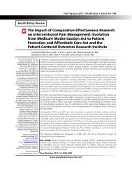 The Impact of Comparative Effectiveness Research ... - Pain Physician