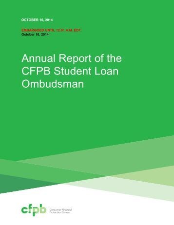The student loan report