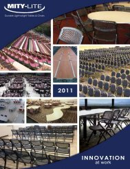 Durable Lightweight Tables & Chairs - Mity-Lite, Inc.