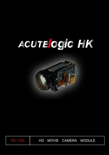 HD MOVIE CAMERA MODULE PE-1005 - Acutelogic