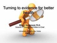 Mitra J. Hooshmand, Ph.D. ScientiFIT, Founder and ... - Wellness