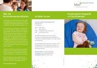 Psychologische Diagnostik und Psychotherapie - Kinderzentrum ...
