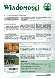 Nr 10 Lipiec 2013 - Instytut Ekologii Terenów Uprzemysłowionych
