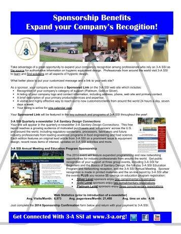 Sponsorship Form (PDF) - 3-A Sanitary Standards