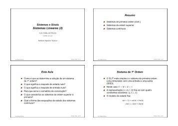 Sistemas Lineares (2)