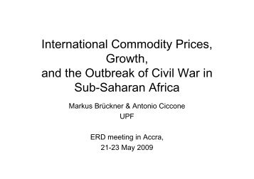 International commodity prices, OECD import demand, and ... - ERD