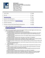 Draft Agenda SIA Standards Committee Ad Hoc on Data Modeling ...