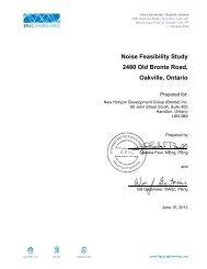 Noise Feasibility Study 2480 Old Bronte Road, Oakville, Ontario