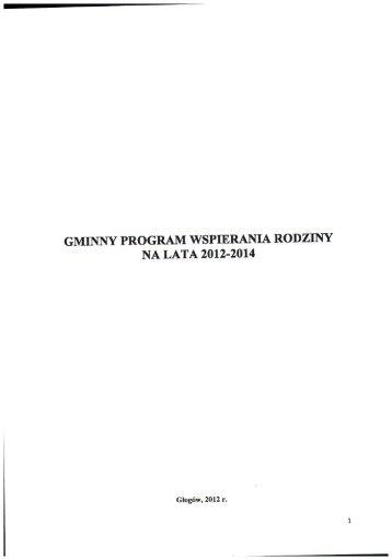 gminny program wspierania rodziny na lata 2012-2014 - Głogów