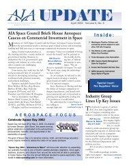 AIA Update, April 2002 - Aerospace Industries Association