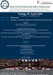 Programm und Anmeldung - Arbeitsgemeinschaft für Internationalen ...