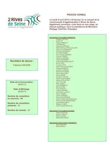 Conseil communautaire du 08/04/2013 - Accueil » CHANTELOUP ...