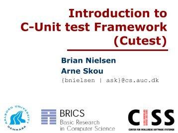 Introduction to C-Unit test Framework (Cutest)