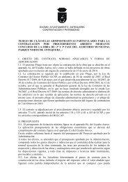 pliego de clausulas administrativas particulares - Ayuntamiento de ...