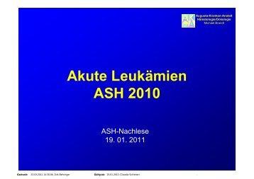Akute Leukämie - Dr. Brandt - onkologie-klinik