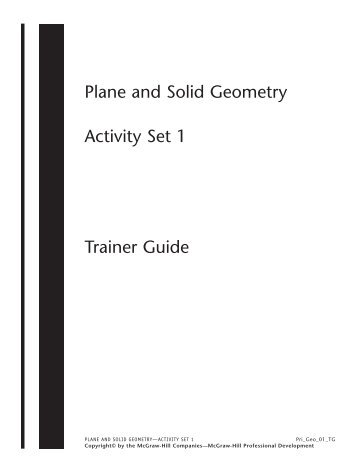 Plane and Solid Geometry Activity Set 1 - Macmillan/McGraw-Hill
