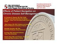 Effects of Patient Navigation on Chronic Disease Self-Management