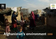 Afghanistan's environment 2008 - Disasters and Conflicts - UNEP