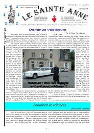Le Sainte-Anne n° 231 d'août-septembre 2011 - La Porte Latine