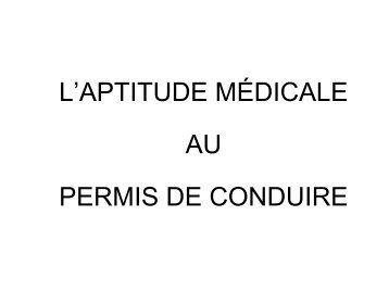 les examens médicaux i - ammppu