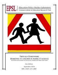 Virtually Everywhere: Marketing to Children in America's Schools