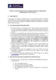 Edital de Seleção - Programa Mobilidade Institucional 1/2013