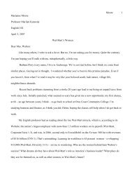 ROGERIAN MODEL ESSAY WAL MART moore - PageOut
