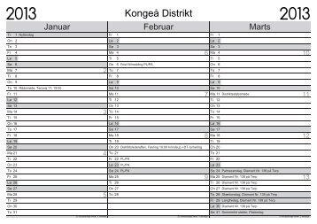 Kalender 2013 - Spejdernet