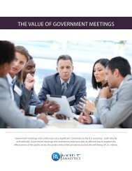 """The Value of Government Meetings"" report - Travel Effect"