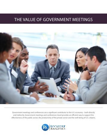 """""""The Value of Government Meetings"""" report - Travel Effect"""