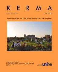 Archaeological excavations at Kerma