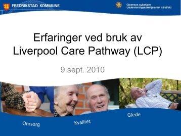 Erfaringer ved bruk av LCP - Fredrikstad kommune