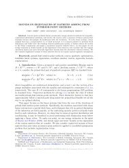 BOUNDS ON EIGENVALUES OF MATRICES ARISING FROM ...