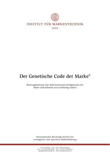 Der Genetische Code der Marke - Institut für Markentechnik Genf