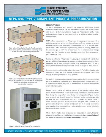 nfpa 496 type z compliant purge & pressurization - Specific Systems