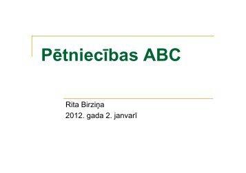 Pētniecības ABC