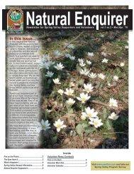 Natural Enquirer March/April 2010 - Schaumburg Park District