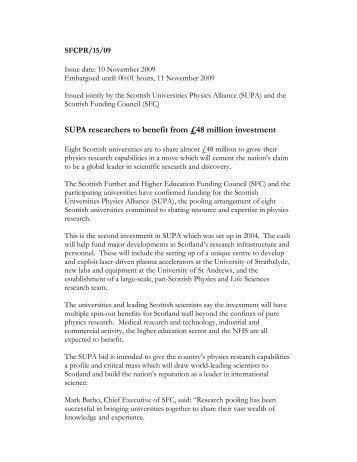 Press release as PDF - SUPA