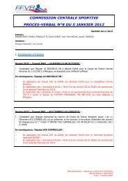 05 Janvier 2012 - Extranet FFVB