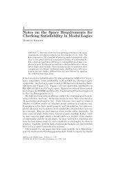 Notes on the Space Requirements for Checking Satisfiability in ...