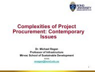 Complexities of Project Procurement ... - Bond University
