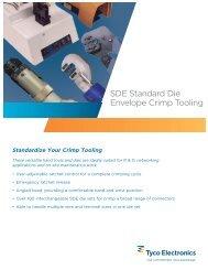 SDE Standard Die Envelope Crimp Tooling