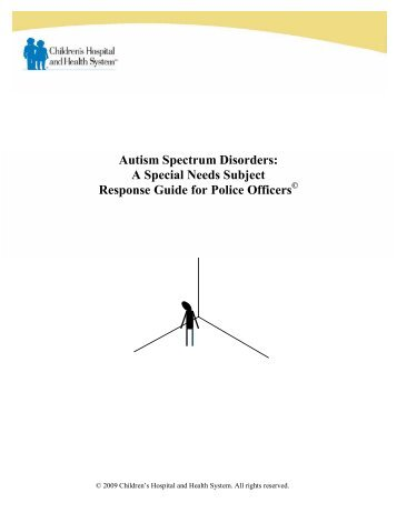 Autism Spectrum Disorders: A Special Needs Subject Response ...