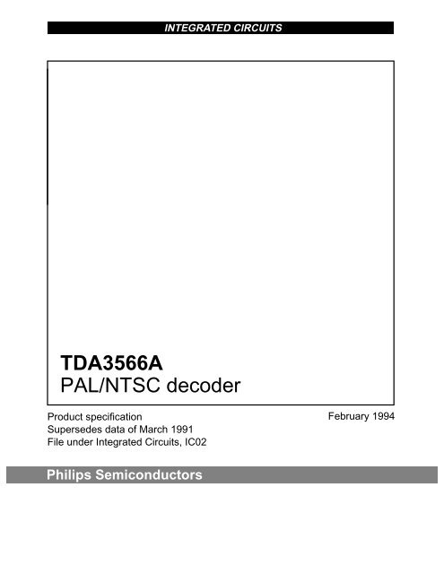 TDA3566A PAL/NTSC decoder
